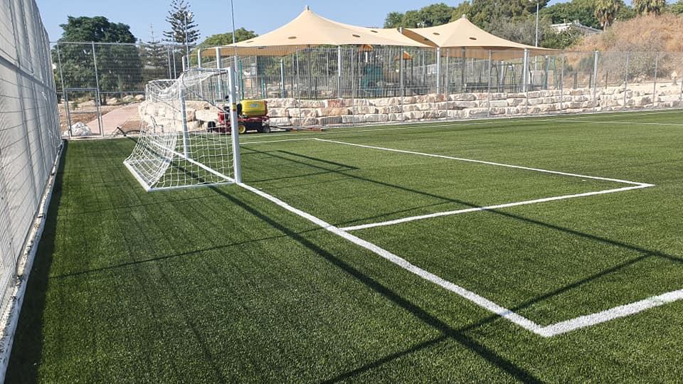 דשא סינטטי למגרש כדורגל בשעלבים